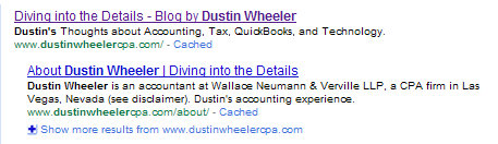 Google Results for Dustin Wheeler