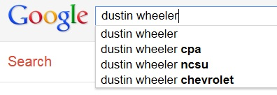 Dustin Wheeler Autocomplete