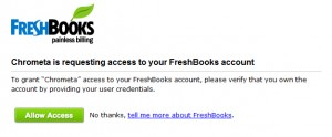 FreshBooks Requesting Access
