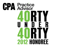 CPA Practice Advisor 40 Under 40 Honoree for 2012